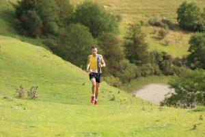 Stu Nicholas battles on in the Crafty Fox Marathon