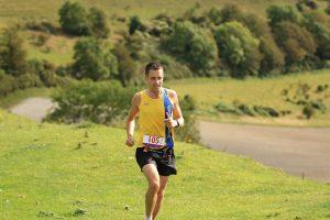 Stu Nicholas powers along in the Crafty Fox Marathon