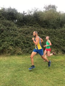 Rich Brawn in action in the Wessex League Cross Country