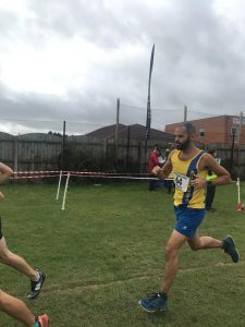 Rich Brawn in the Wessex League Cross Country