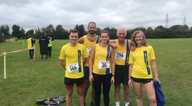 Bournemouth AC team for the Wessex League Cross Country