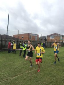 Ed Porter and Rich Brawn in the Wessex League Cross Country