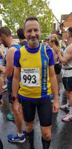 Adrian Townsend lines up for the Salisbury Half Marathon