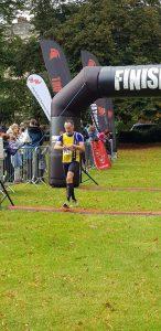 Adrian Townsend finishing the Salisbury Half Marathon