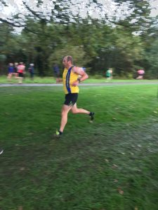 Alex Goulding in the Hampshire League Cross Country