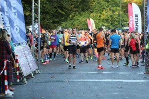 Start line of the BMF Half Marathon