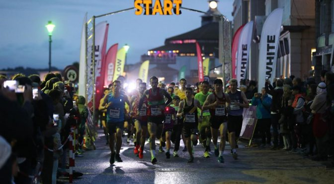 Start of the Bournemouth Marathon Festival Supernova 5k