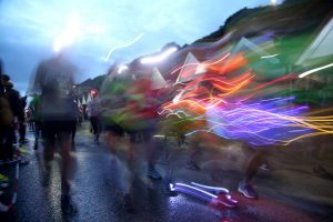 Bournemouth Marathon Festival Supernova 5k light streak