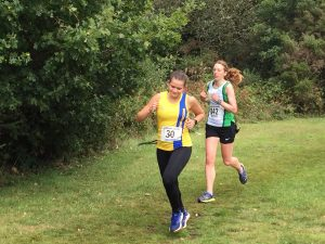 Raluca Basarman in Wessex League Cross Country
