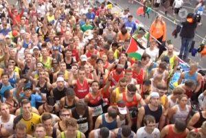 Craig Palmer on the start line of the Berlin Marathon