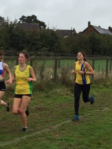 Raluca Basarman in the Hampshire League Cross Country