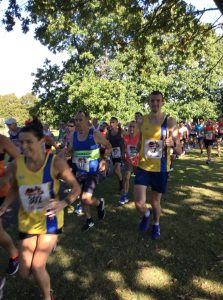 Jo Dilling and Mitch Griffiths start the Littledown 5