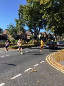 Joy Wright in the BMF Half Marathon