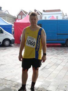 Julian Oxborough before the Salisbury Half Marathon