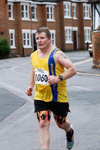 Julian Oxborough in the Salisbury Half Marathon