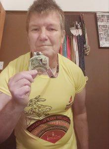 Julian Oxborough with his medal from the Salisbury Half Marathon