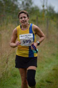 Kirsty Drewett in the Black Hill 10k