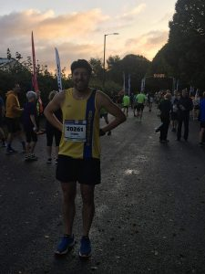 Pawel Surowiec at BMF Half Marathon
