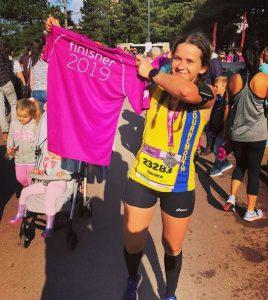 Raluca Basarman after the BMF Half Marathon