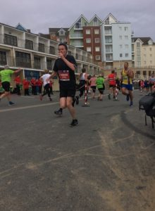 Rich Brawn giving chase in the BMF Supersonic 10k