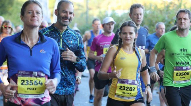 Raluca Basarman with Rich Brawn in the BMF Half Marathon