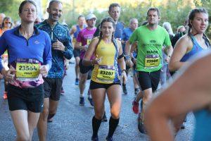Raluca Basarman along with Rich Brawn in the BMF Half Marathon
