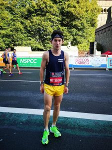 Rob McTaggart at the Cardiff Half Marathon