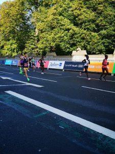 Rob McTaggart speeding along in the Cardiff Half Marathon