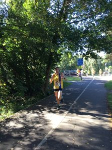 Rob Spencer coming in for the win in the Littledown 5