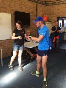 Rob Spencer gets prize at Littledown 5