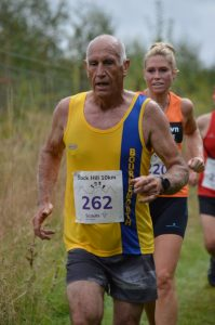 Simon Hunt pushes on in the Black Hill 10k