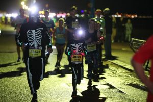 Skeletons at the Bournemouth Marathon Festival Supernova 5k