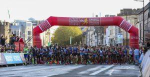 Start of Cardiff Half Marathon