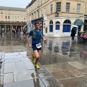 Toby Chapman nears the end of the Cotswold Way Century