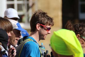 Toby Chapman on the start line of Cotswold Way Century
