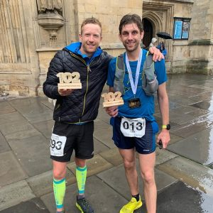 Zen Sherley-Dale and Toby Chapman after the Cotswold Way Century
