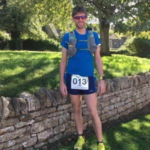 Toby Chapman before Cotswold Way Century