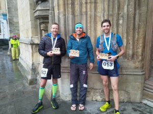 The top three at the Cotswold Way Century