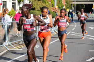 Top three ladies in the Cardiff Half Marathon