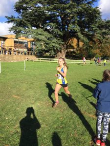 Holly Collier in the Wessex League XC at Lytchett School