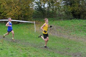 Oscar Ewan Matthews racing in the Hampshire League XC at Sparsholt College