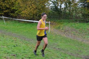 Nathan Mearns in the Hampshire League XC at Sparsholt College