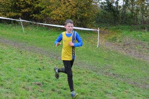 Sam Brewer in action in the Hampshire League XC at Sparsholt College