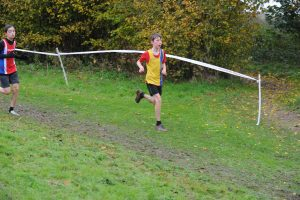 Isaac Sandell in the Hampshire League XC at Sparsholt College