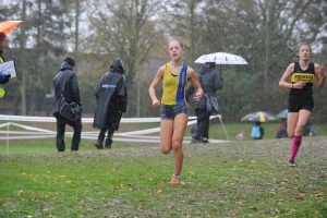 Martha Preece in the Hampshire League XC at Sparsholt College