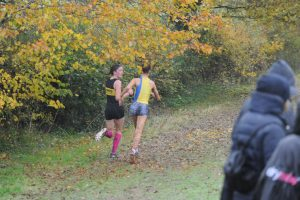 Martha Preece taking on the Hampshire League XC at Sparsholt College