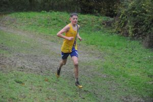 Louie Todd in the Hampshire League XC at Sparsholt College