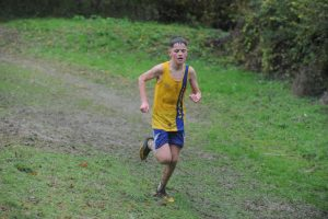 Louie Todd in action at the Hampshire League XC at Sparsholt College