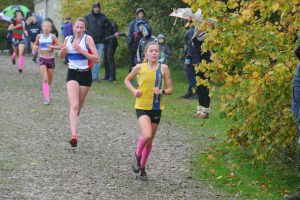 Erin Wells in the Hampshire League XC at Sparsholt College