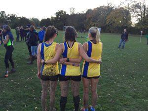 Ladies got muddy at the Wessex League XC at Lytchett School